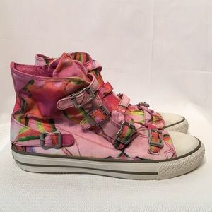 Limited A by A.S.H. Size 38 pink & green Abstract